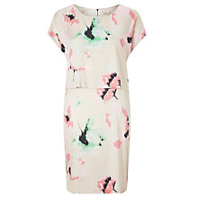 Buy Numph Hiromi Layered Print Dress, Coral Almond Online at johnlewis.com