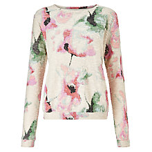 Buy Numph Ayumi Textured Print Jumper, Coral almond Online at johnlewis.com