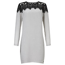 Buy Numph Ginjiri Lace Shoulder Dress, Birch Online at johnlewis.com