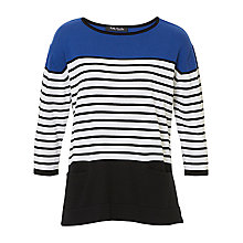Buy Betty Barclay Striped Cotton Blend Knitted Top, Black/Blue Online at johnlewis.com