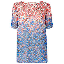 Buy L.K. Bennett Dot Floral Top, Blue Online at johnlewis.com
