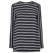 Buy L.K. Bennett Mabel Striped Shirt, Navy Online at johnlewis.com