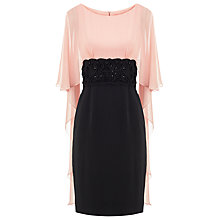 Buy Phase Eight No.8 Chiffon Cape Eleven Dress, Black/Pink Online at johnlewis.com