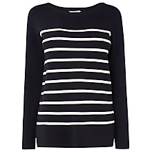 Buy L.K. Bennett Mandy Knit Breton Jumper, Multi Blue Online at johnlewis.com