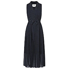 Buy L.K. Bennett Lora Pleated Dress, Blue Online at johnlewis.com