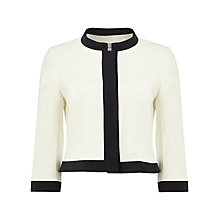Buy Phase Eight Lucinder Jacket, Ivory/Black Online at johnlewis.com