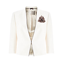 Buy Jacques Vert Contrast Binding Crepe Jacket, Ivory Online at johnlewis.com