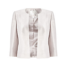 Buy Jacques Vert Angled Edge to Edge Jacket, Soft Grey Online at johnlewis.com