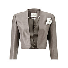 Buy Jacques Vert Stand Collar Bolero, Taupe Online at johnlewis.com