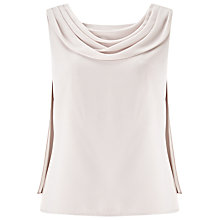 Buy Jacques Vert Drape Crepe Top, Soft Grey Online at johnlewis.com