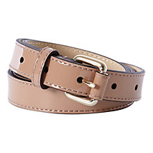 Buy Karen Millen Skinny Patent Leather Belt Online at johnlewis.com