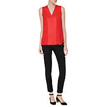 Buy L.K. Bennett Samira Satin Back Top Online at johnlewis.com