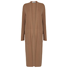 Buy L.K. Bennett Ivo Long Line Cardigan, Fudge Online at johnlewis.com