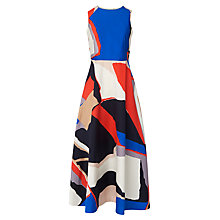 Buy L.K. Bennett Amina Midi Tea Dress, Flamingo Online at johnlewis.com
