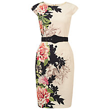 Buy Phase Eight Arum Floral Placement Dress, Cream/Multi Online at johnlewis.com