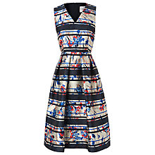 Buy L.K. Bennett Liandra Floral Dress, Red/Blue Online at johnlewis.com