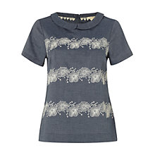 Buy White Stuff Abbington Embroidered Top, Library Blue Online at johnlewis.com