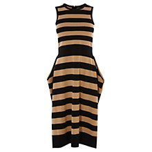 Buy Karen Millen Bloc Stripe Dress, Black/Multi Online at johnlewis.com