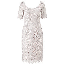Buy Jacques Vert Leaf Lace Dress, Soft Grey Online at johnlewis.com