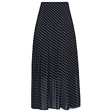 Buy L.K. Bennett Lora Pleated Full Skirt, Blue Online at johnlewis.com