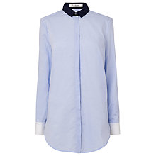 Buy L.K. Bennett Dixie Tailored Cotton Shirt, Multi Blue Online at johnlewis.com