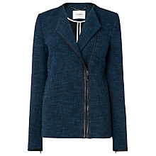 Buy L.K. Bennett Flynn Tweed Jacket, Navy Online at johnlewis.com