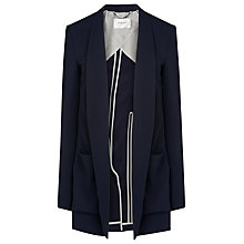 Buy L.K. Bennett Marcia Draped Soft Blazer, Sloane Blue Online at johnlewis.com