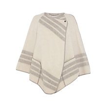 Buy Karen Millen Soft Wrap Cape Coat, Neutral Online at johnlewis.com