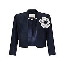 Buy Jacques Vert Stand Collar Bolero, Navy Online at johnlewis.com