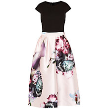 Buy Ted Baker Carsyn Ethereal Posie Midi Dress, Nude Pink Online at johnlewis.com