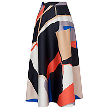 Buy L.K. Bennett Amina Printed Midi Skirt, Multi Online at johnlewis.com