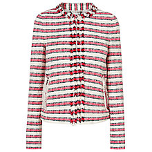 Buy L.K. Bennett Tallula Tweed Jacket, Red Online at johnlewis.com