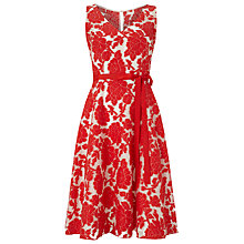 Buy Phase Eight Poppy Burnout Dress, Tomato/Cream Online at johnlewis.com