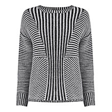 Buy Warehouse Effect Rib Jumper, Black Online at johnlewis.com