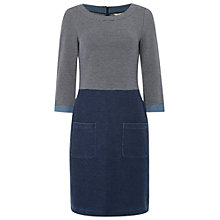 Buy White Stuff Denim Stripe Jersey Dress, Blue Online at johnlewis.com