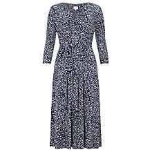 Buy East Rina Print Jersey Dress, Ink Online at johnlewis.com