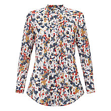 Buy East Penny Floral Shirt, Red/Multi Online at johnlewis.com