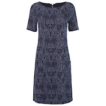 Buy White Stuff Library Hall Jersey Dress, Ox Blue Online at johnlewis.com