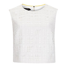 Buy Ted Baker Saire Geometric Lace Crop Top, Cream Online at johnlewis.com