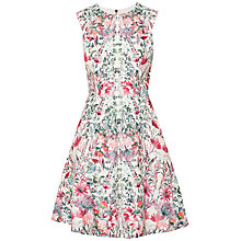 Buy Ted Baker Gaea Layered Bouquet Skater Dress, Cream Online at johnlewis.com