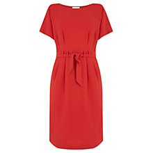 Buy Warehouse Belted Dress, Bright Red Online at johnlewis.com