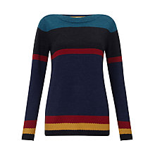Buy East Stripe Merino Jumper, Multi Online at johnlewis.com