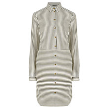 Buy Warehouse Stripe Shirt Dress, Grey Online at johnlewis.com