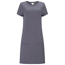Buy East Stripe Rib Jersey Dress, Ink Online at johnlewis.com