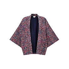 Buy East Silk Rina Print Jacket, Red Online at johnlewis.com