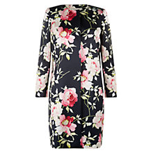 Buy Hobbs Rita Rose Coat, Navy Multi Online at johnlewis.com
