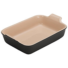Buy Le Creuset Stoneware Deep Rectangular Dish, Satin Black Online at johnlewis.com