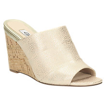 Buy Clarks Image Pop Peep Toe Wedge Heeled Sandals, Dusty Pink Online at johnlewis.com