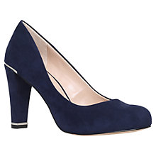Buy Carvela Advice Block Heeled Court Shoes, Navy Online at johnlewis.com