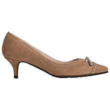 Buy L.K. Bennett Clara Kitten Heeled Court Shoes, Fudge Suede Online at johnlewis.com